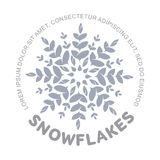 Logo del fiocco di neve immagine stock libera da diritti
