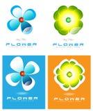 Logo del fiore Fotografia Stock Libera da Diritti