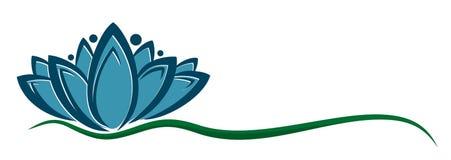 Logo del fiore illustrazione di stock