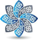 Logo del fiore del circuito Immagini Stock