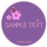 Logo del fiore della ciliegia Fotografie Stock