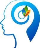 Logo del fiore di mente Fotografia Stock
