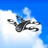 Logo del fuco contro un bello cielo Fotografia Stock