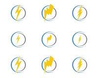 Logo del fulmine illustrazione di stock