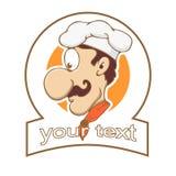 Logo del fumetto di un cuoco unico Fotografia Stock
