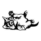 Logo del gatto Fotografia Stock Libera da Diritti