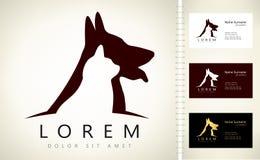 Logo del gatto e del cane Immagine Stock