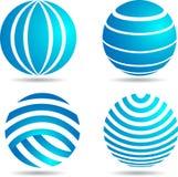 Logo del globo illustrazione vettoriale