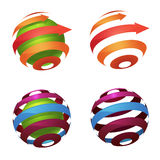Logo del globo della sfera illustrazione vettoriale