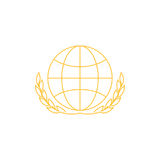 Logo del grano Immagini Stock Libere da Diritti