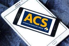 Logo del gruppo della costruzione di Acs Fotografie Stock Libere da Diritti