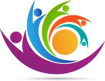 Logo del gruppo della gente illustrazione di stock