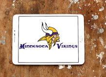 Logo del gruppo di football americano di Minnesota Vikings Fotografie Stock