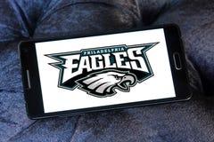 Logo del gruppo di football americano di Philadelphia Eagles fotografie stock libere da diritti