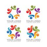 Logo del lavoro di gruppo e della Comunità illustrazione vettoriale