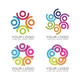 Logo del lavoro di gruppo e della Comunità immagine stock
