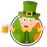 Logo del leprechaun di St Patrick s Fotografia Stock Libera da Diritti