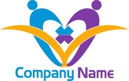 Logo del libro delle coppie Fotografia Stock