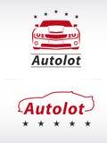 Logo del lotto dell'automobile Immagini Stock
