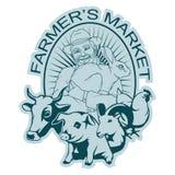 Logo del mercato dell'agricoltore Fotografia Stock