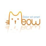 Logo del miagolio Immagini Stock