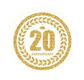 Logo del modello 20 anni di anniversario di illustrazione di vettore illustrazione vettoriale