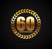 Logo del modello 60 anni di anniversario di illustrazione di vettore illustrazione vettoriale