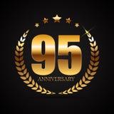 Logo del modello 95 anni di anniversario di illustrazione di vettore Fotografia Stock Libera da Diritti