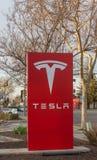 Logo del modello di Tesla Fotografia Stock Libera da Diritti