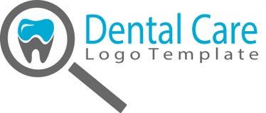 Logo del modello e di cure odontoiatriche Fotografia Stock