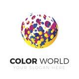 Logo del mondo di colore Immagine Stock