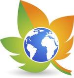 Logo del mondo di Eco Fotografia Stock