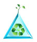 Logo del mondo di ecologia nel vettore Fotografie Stock Libere da Diritti