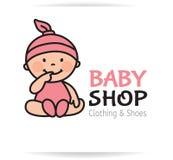Logo del negozio del bambino Fotografia Stock Libera da Diritti