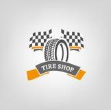 Logo del negozio della gomma illustrazione vettoriale