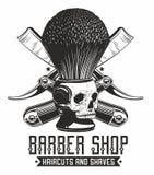 Logo del negozio di Barbe royalty illustrazione gratis