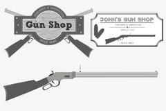 Logo del negozio di pistola Fotografia Stock