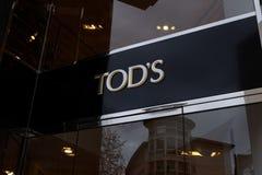 Logo del negozio di Tod a Francoforte immagini stock libere da diritti