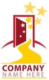 Logo del percorso della porta aperta Immagine Stock