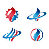 Logo del petrolio e del gas moderno fotografia stock