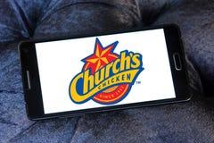 Logo del pollo di Churchs Fotografia Stock Libera da Diritti