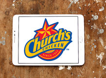Logo del pollo di Churchs Immagini Stock