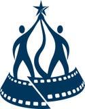 Logo del premio di festival cinematografico Fotografie Stock Libere da Diritti