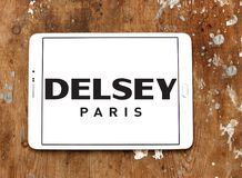 Logo del produttore dei bagagli di Delsey Immagini Stock
