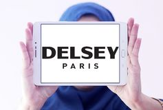 Logo del produttore dei bagagli di Delsey Fotografia Stock Libera da Diritti