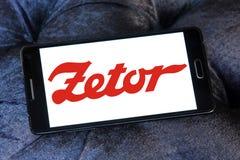 Logo del produttore dei trattori di Zetor Fotografie Stock