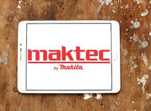 Logo del produttore delle macchine utensili di Maktec Immagine Stock