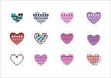 Logo del punto del cerchio di amore del cuore Fotografia Stock Libera da Diritti