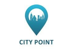 Logo del punto della città Fotografia Stock