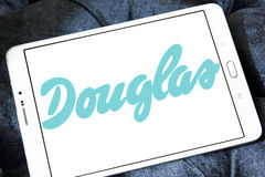 Logo del rivenditore dei cosmetici di Douglas Immagine Stock